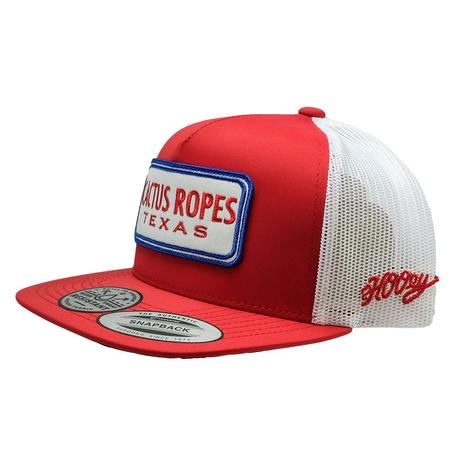 Hooey Cactus Ropes Red White Patch Meshback Cap