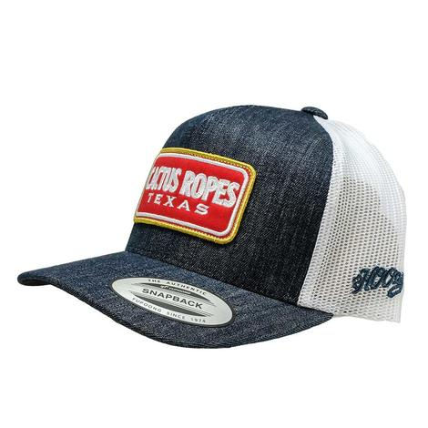 Hooey Cactus Ropes Navy White Red Patch Meshback Youth Cap