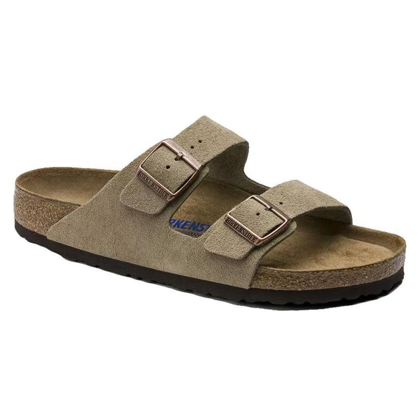 Birkenstock Arizona Suede Taupe Soft Footbed Women's Sandals