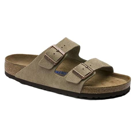 Birkenstock Arizona Suede Taupe Soft Footbed Women's Sandals
