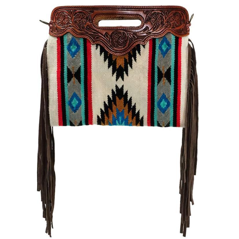 American Darling Wool Shoulder Bag Hand Tooled Top