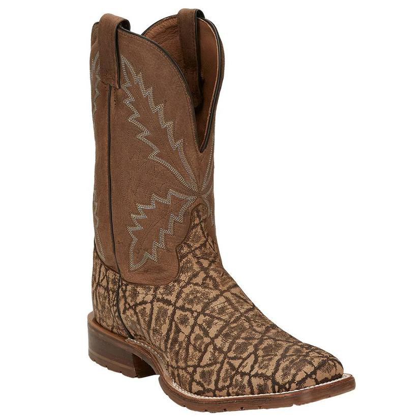 Tony Lama Bowie Taupe Elephant Tlx Performance Men's Boots