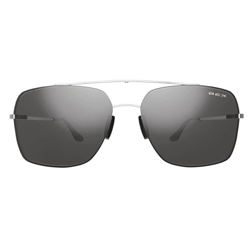 Bex Pilot Silver Grey Sunglasses