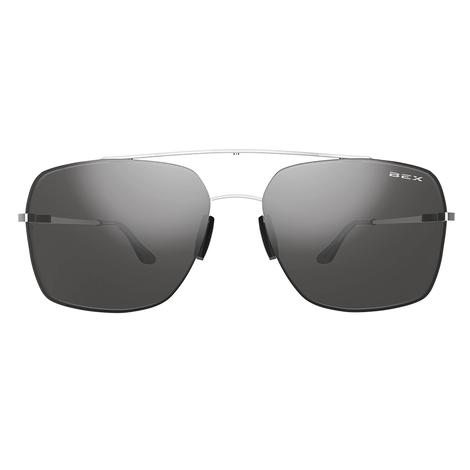 BEX Pilot Silver Grey Sunglasses