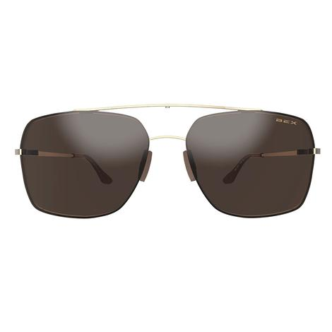 BEX Pilot Gold Brown Suglasses