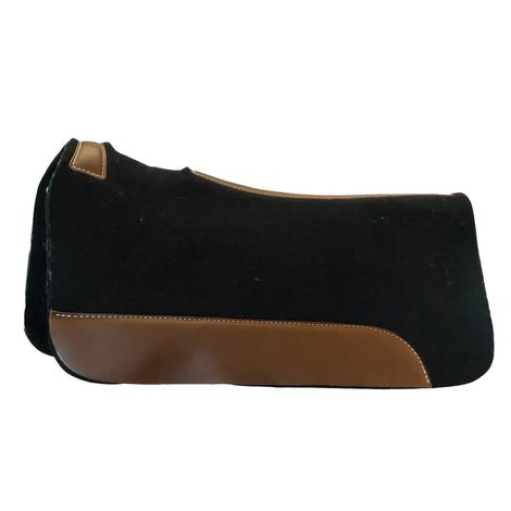 Blue Horse Black Felt Contoured Saddle Pad by Mustang Mfg. 32