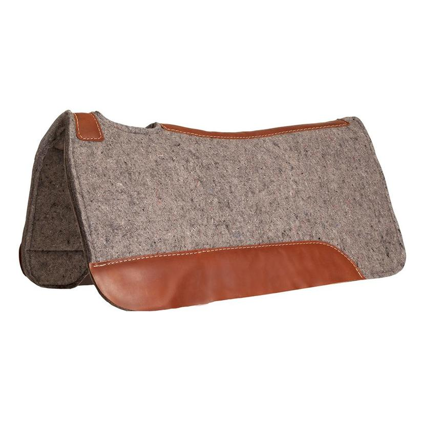 Blue Horse Grey Felt Contoured Saddle Pad By Mustang Mfg.32