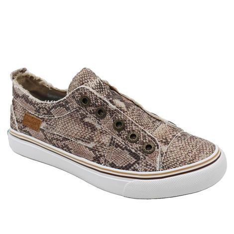 Blowfish Natural Snake Print Slip On Women's Shoes