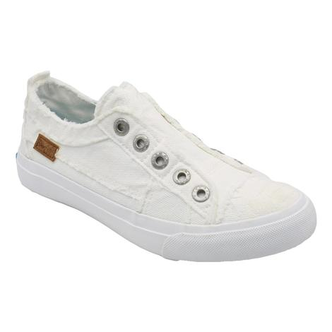 Blowfish White on White Slip on Women's Shoes
