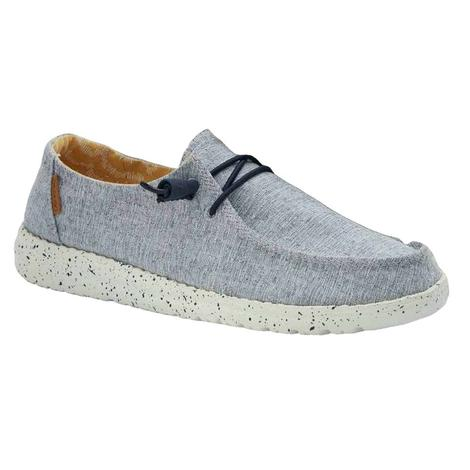 Hey Dude Wendy Chambray White Blue Women's Shoes
