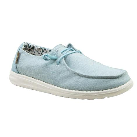 Hey Dude Wendy Chambray Azure Women's Shoes