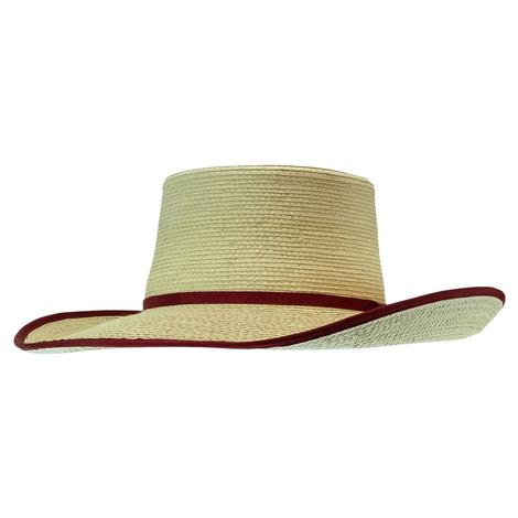 Sunbody Hat Reata Cranberry Suede Trim 4