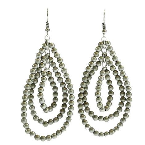Silver Triple Drop Earrings