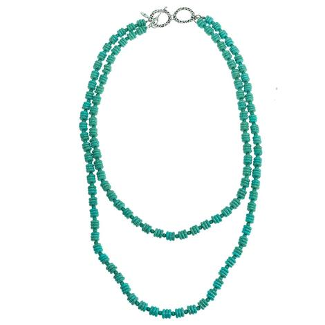 Turquoise Double Strand Beaded Necklace