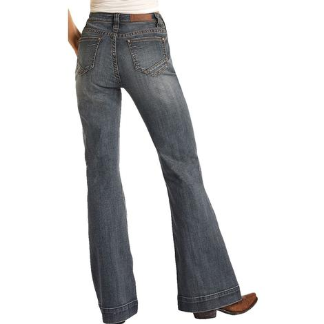 Rock and Roll Cowgirl Medium Wash Women's Trouser