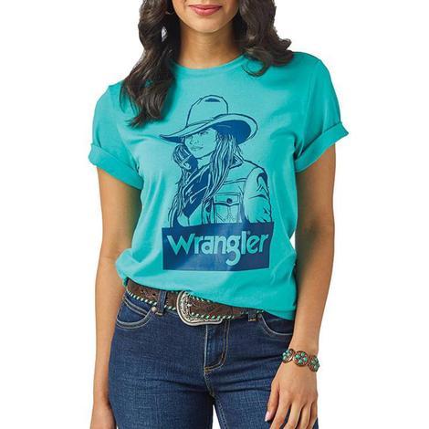 Wrangler Turquoise Cowgirl Tee