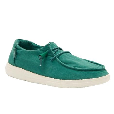 Hey Dude Wendy Green Galapagos Women's Slip On Shoes