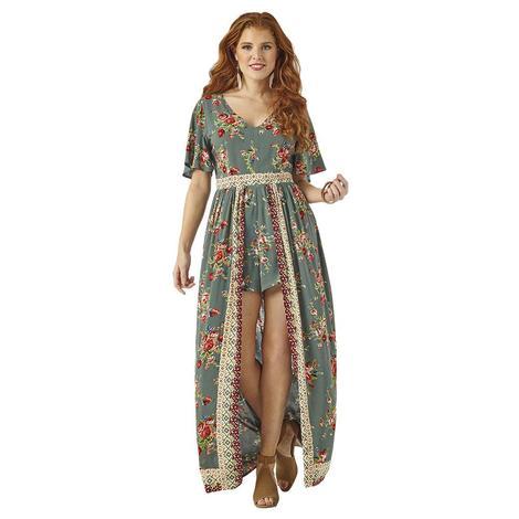 Wrangler Sage Floral Maxi Dress
