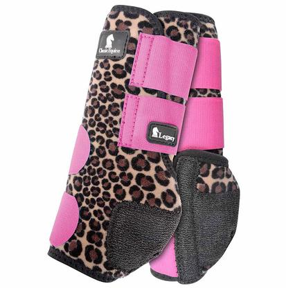 Classic Equine Front Legacy Sport Boot Front CHEETAH/PINK