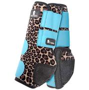 Classic Equine Front Legacy Sport Boot Front CHEETAH/TURQUOISE