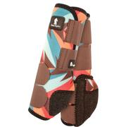 Classic Equine Front Legacy Sport Boot Front CHOC/TEAL