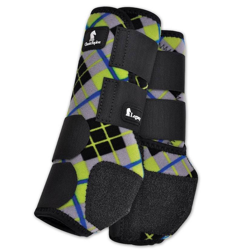 Classic Equine Front Legacy Sport Boot Front GREEN/PLAID