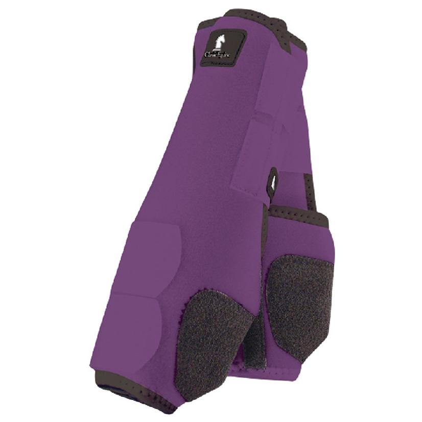 Classic Equine Front Legacy Sport Boot Front PURPLE