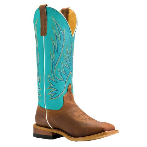 Macie Bean Teal the Cows Come Home Sugar Brass Women's Boots