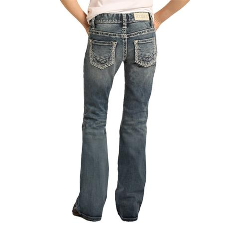 Rock and Roll Cowgirl Medium Vintage Bootcut Girl's Jeans