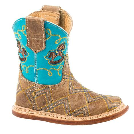 Roper Cowbaby Infant Blue Rockin Horse Boots
