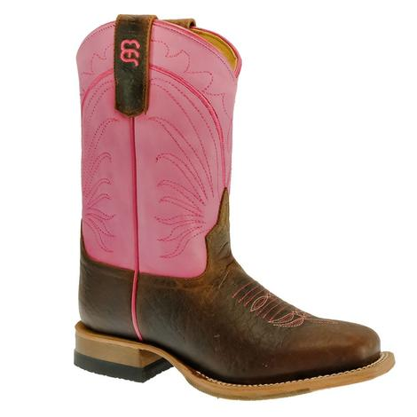 Anderson Bean Toasted Bison Flamingo Pink Girl's Boots