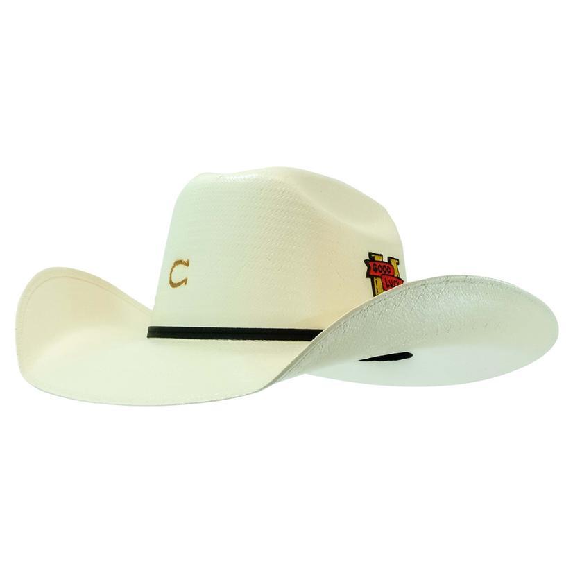 Charlie 1 Horse Good Luck 3.5brim Natural Straw Hat