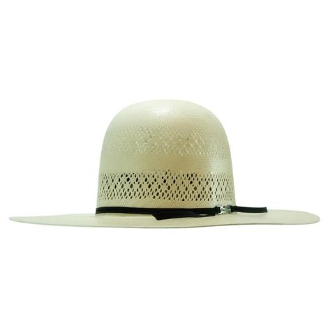 American Hat Company 4.25 Brim Drilex Sweatband 2Cord Black Headband Natural Straw Hat