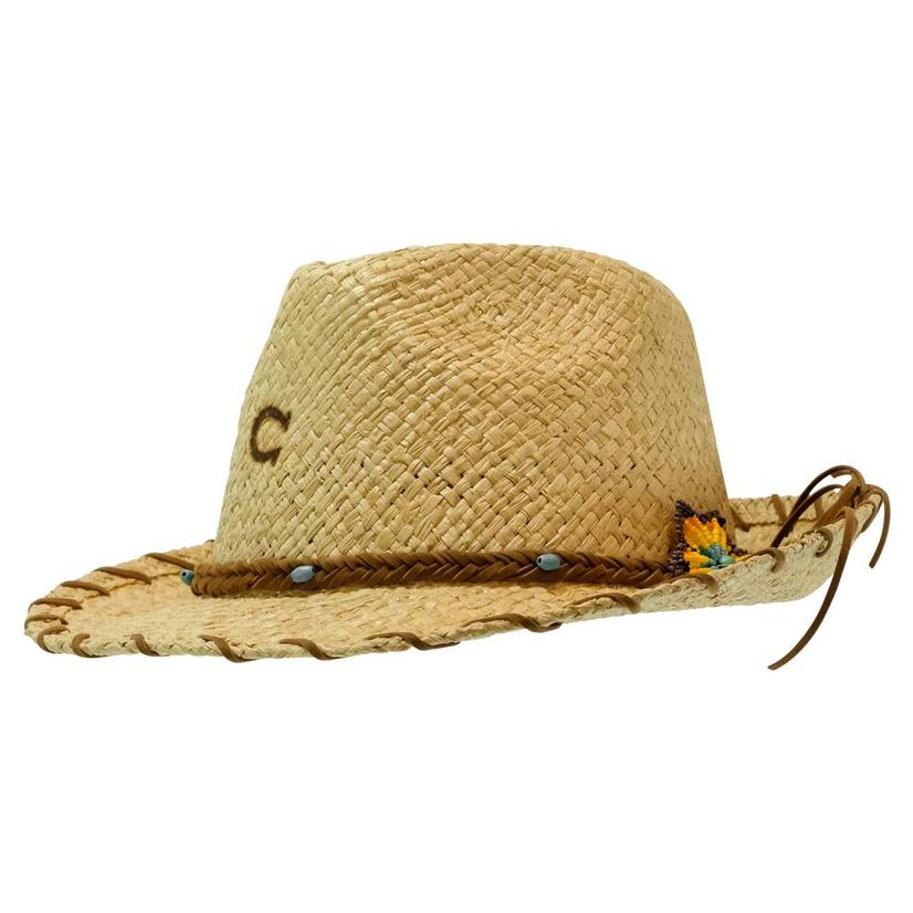 Charlie 1 Horse Sunkissed Fedora 2.5 Brim Natural Straw Hat