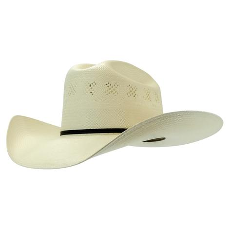 Resistol Banning 4.25 Brim 2 Cord Black Band Precreased Natural Straw Hat