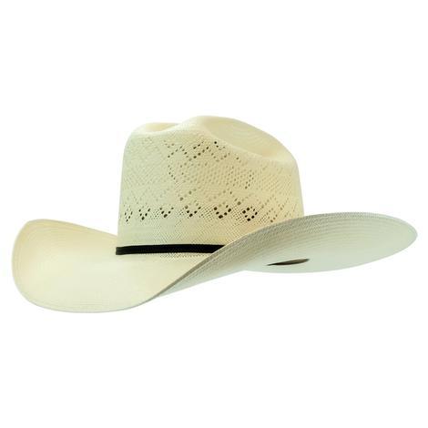 Resistol Riverton 4.5 Brim 2 Cord Black Hatband Natural Straw Hat