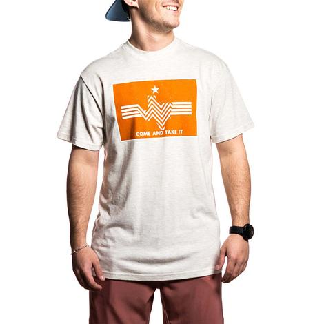 Come and Take It Heather Oatmeal Men's Tee