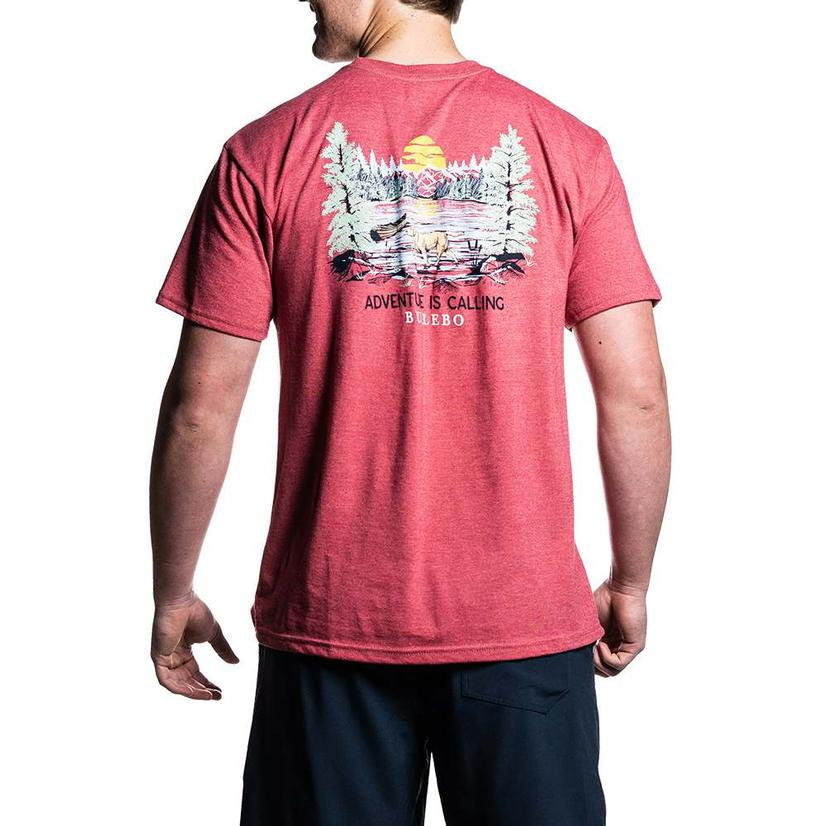 Burlebo Adventure Is Calling Heather Red Men's Tee