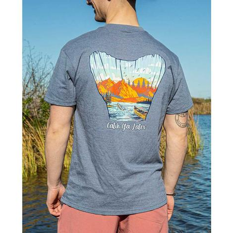Burlebo Catch Ya Later Heather Blue Men's Tee