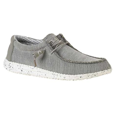Hey Dude Wally Sox Ash Men's Slipon Shoes