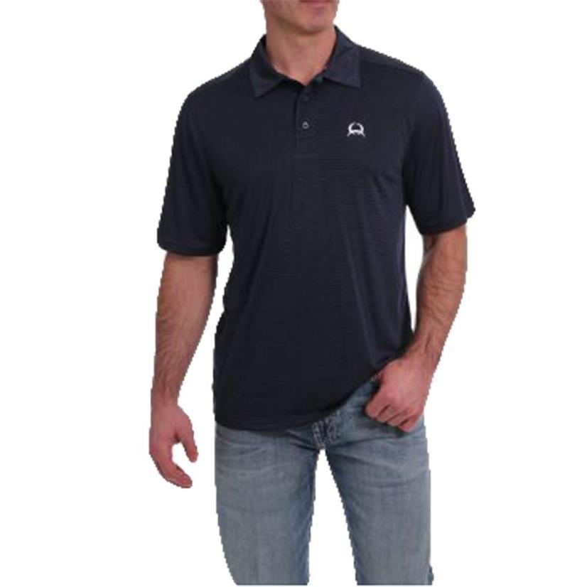 Cinch Solid Stripe Navy Men's Polo Shirt