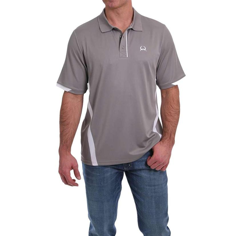 Cinch Grey Short Sleeve Men's Polo Shirt