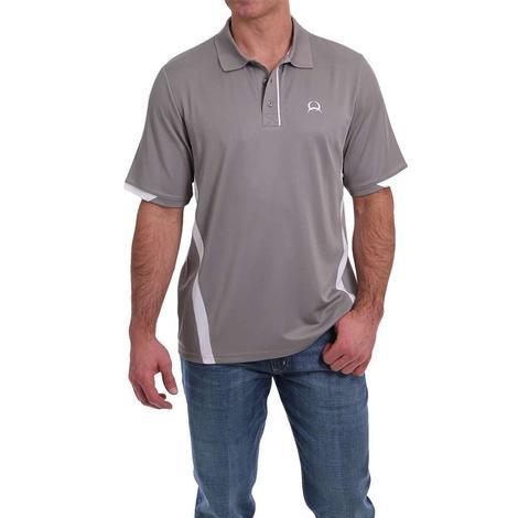 Cinch Grey Short Sleeve Men's Polo Shirt