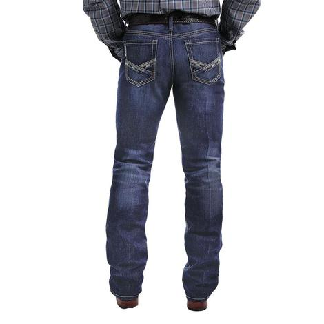 Cinch Ian Slim Fit Dark Wash Boot Cut Jeans