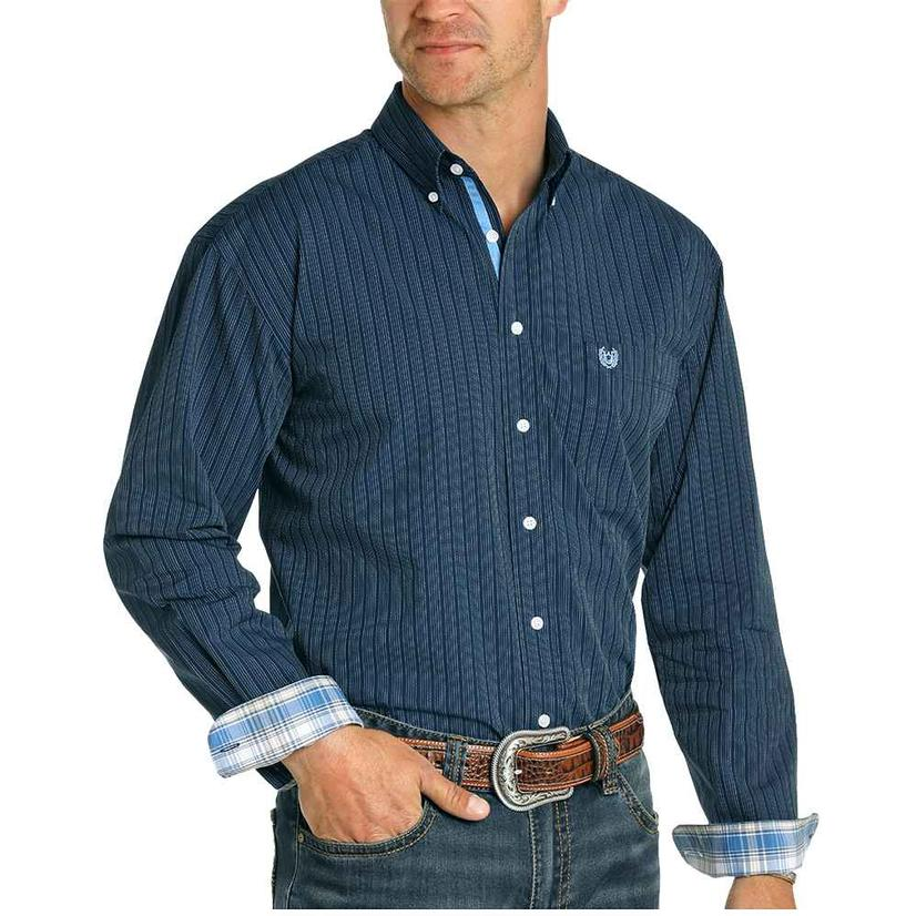 Panhandle Navy Buttondown Longsleeve Men's Shirt
