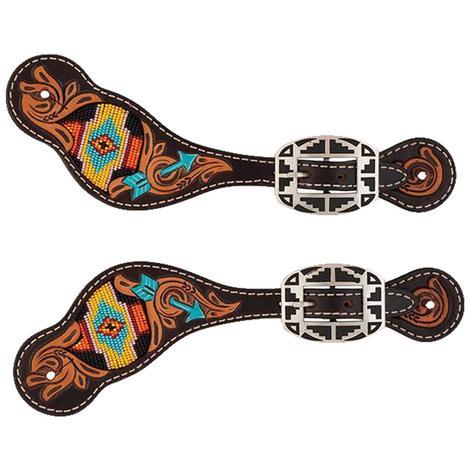 Turquoise Cross Navajo Arrow Ladies Spur Straps