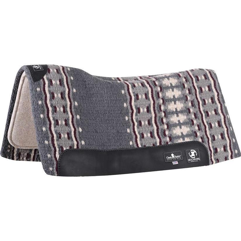 Zone Wool Top Pad 32`X34`X3/4` GREY/PLUM