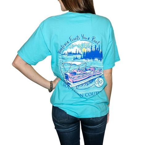 Southern Couture Blue Floats Your Boat Women's Tee