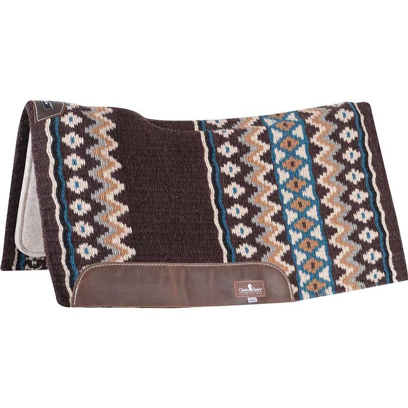 ESP Contoured Wool 34' x 38' x 3/4 inch Pad CHOCOLATE/TEAL