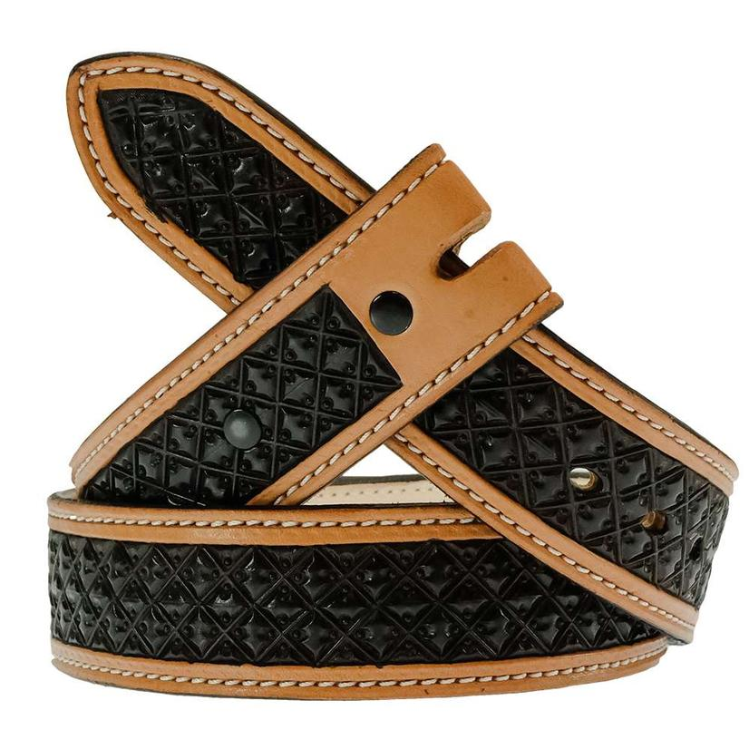 South Texas Tack Custom Chocolate Dyed Stamped Stt Branded Leather Belt